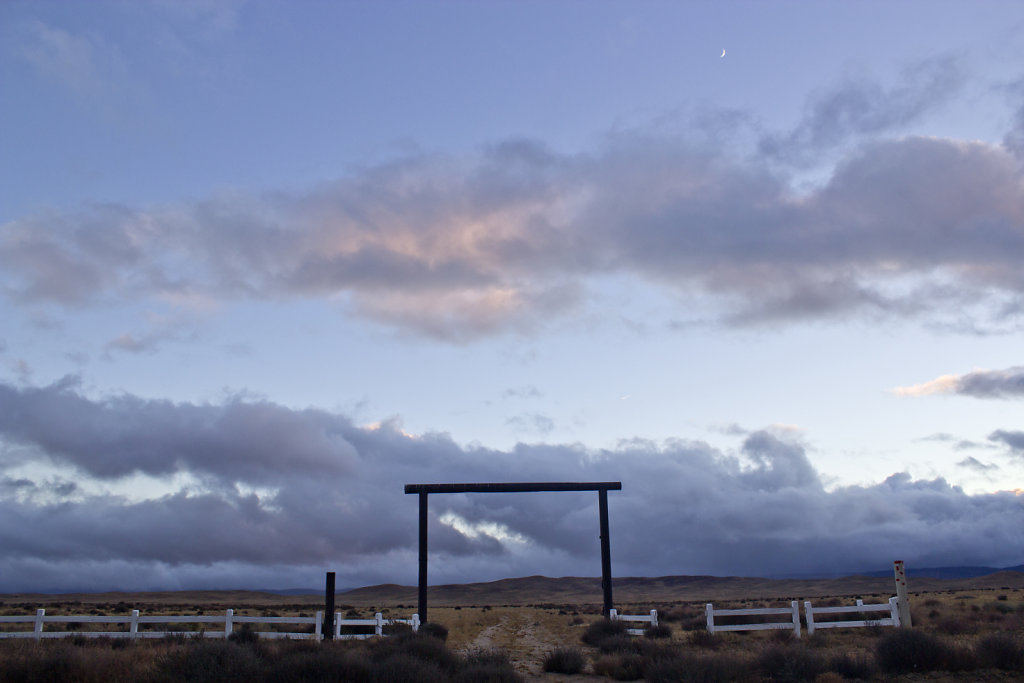 Ranch Gate and Moon