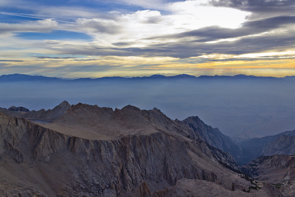Owens Valley From Summit of Whitney